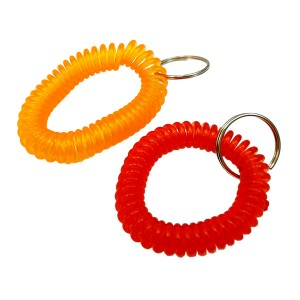 RUBBER SPRING KEY RING