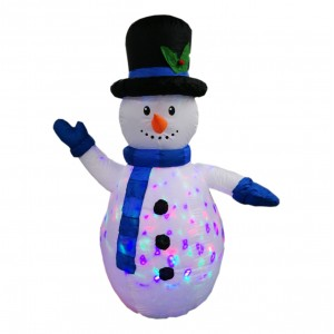 INFLATABLE SNOWMAN+COL LED 1.8M