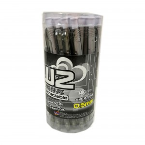 G'SOFT W2 BALLPEN 0.5mm (DRUM)  - BLACK