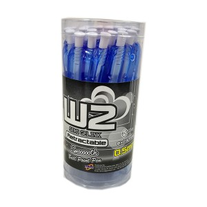 G'SOFT W2 BALLPEN 0.5mm (DRUM) - BLUE