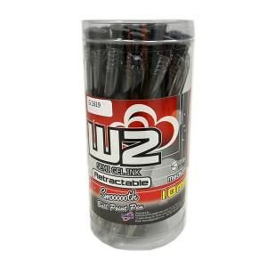 G'SOFT W2 BALLPEN  1.0mm (DRUM) - BLACK
