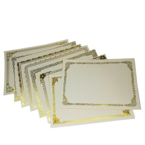 A4 GOLD STAMPING CARD