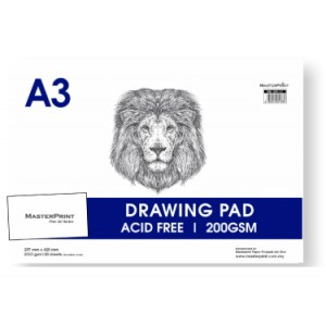 DB200-1-A3 DRAWING BLOCK 200gsm