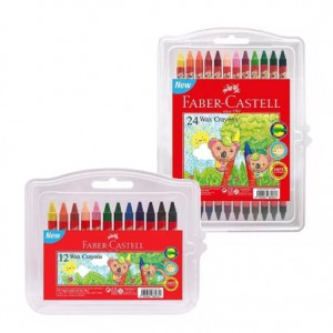 FABER CASTELL WAX CRAYONS