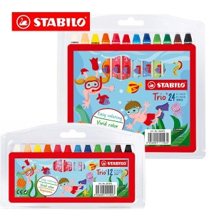 STABILO® Trio® Triangular Oil Pastel