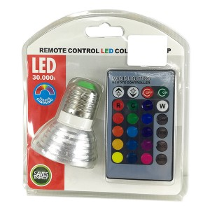 LED LAMP RGB (REMOTE) 3W