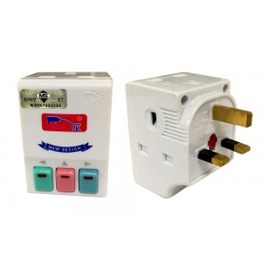 UK 13A 3WAYS 3SWITCH ADAPTOR (SIRIM)