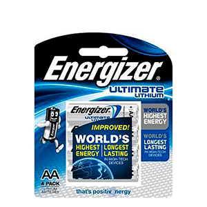 ENERGIZER L91BP4 LITHIUM BATTERY(4)