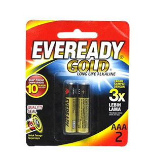 EVEREADY BATTERY GOLD AAA BP2