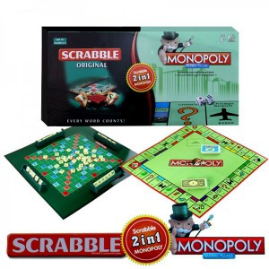 2 IN 1 MONOPOLY AND SCRABBLE GAME