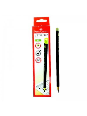 FABER CASTELL 311802 TRI-GRIP 2B PENCILS
