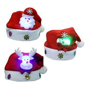 X'MAS HAT LIGHT ON CARTOON