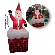 INFLATABLE SANTA MOVING UP&DOWN 1.6M
