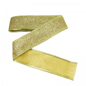 X'MAS RIBBON GOLD 4CMx3METER