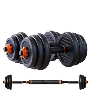 DUMBBELL SET WITH CONNECTOR (CEMENT)