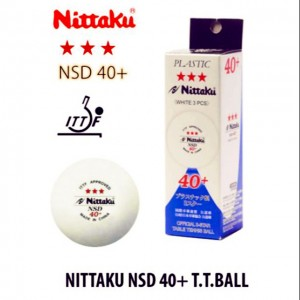 NITTAKU 3STAR BALL 40+ WHITE