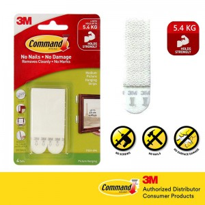 3M COMMAND PICTURE HANGING STRIPS. 4S