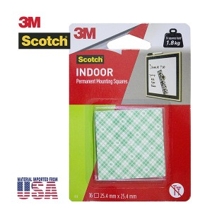 3M SCOTCH 111D MOUNTING SQUARES 16S
