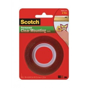 "3M-4010 MOUNTING TAPE CLEAR 1""x60"""