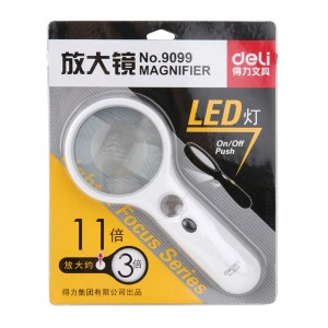DELI 9099 LED MAGNIFIER 75MM