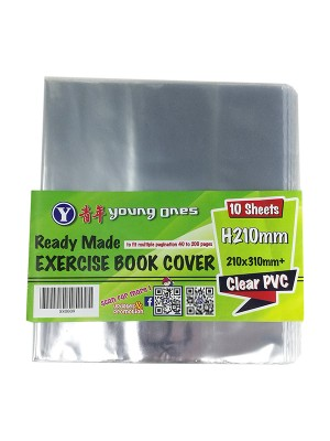 F5 EXERCISE BOOK COVER 10's(Clear)
