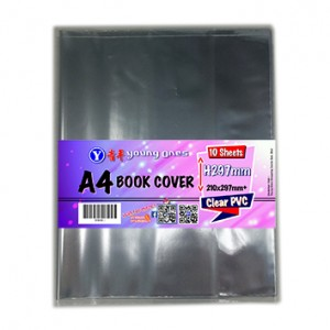 A4 BOOK COVER 10'S (CLEAR)