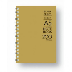 BS-200-A5 BLANK W/O NOTE BK 100gsm 200P