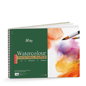 WIRE-O WATER COLOR BOOK, 300GSM 100% COTTON