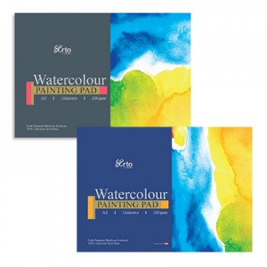 WATER COLOR PAPER PAD, 100% CELLULOSE
