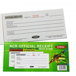 YOMAX OFFICIAL RECEIPT NCR