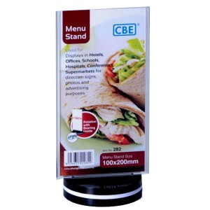 CBE 282 MENU STAND - FLAT - ROTATING TYPE