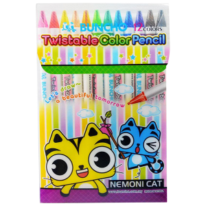 BUNCHO TWISTABLE COL.PENCILS(12)