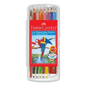 FABER CASTELL 114561 WCOL.PENCIL(12S)WBOX