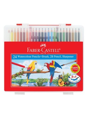 FABER CASTELL 114564 WCOL. PENCIL(24)WBOX
