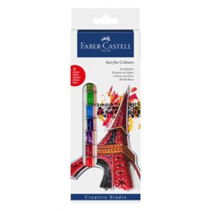 FABER CASTELL 169501 ACRYLIC COLOUR 12mlx12Col