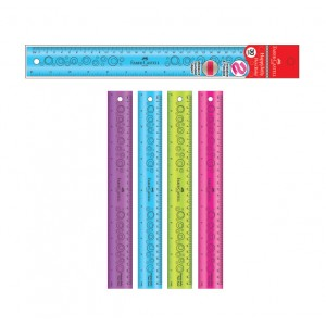 FABER CASTELL 178319 HAPPY JELLY FLEXI RULER 15cm