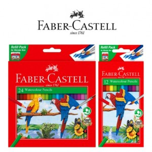FABER CASTELL WATERCOLOUR PENCIL REFILL PACK