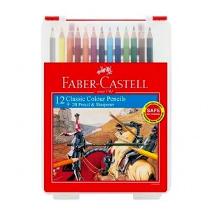 FABER CASTELL 114572 CLASSIC COL PENCIL(12L)W/BOX