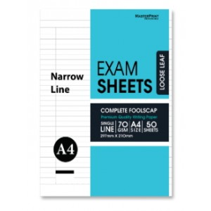 ESN487-3 EXAM SHEETS N/L 70gsm 50'S
