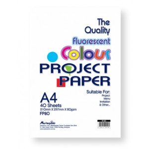 FP-80 FLUO COL.PROJECT PAPER 80gsm 40s