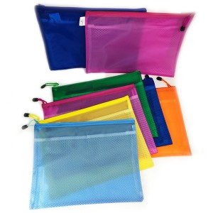 A4 MESH BAG EMBOSS 2 LAYER