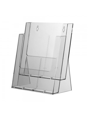 2 TIER A4 ACRYLIC LEAFLET HOLDER NO.859