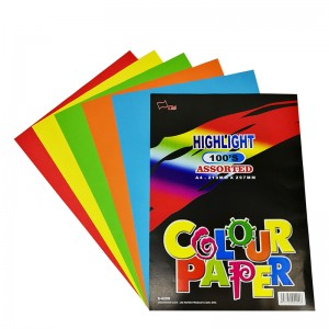 UNI S4200 HIGH LIGHT COLOUR PAPER 100S