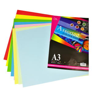 UNI S84 ASSORTED COLOR PAPER 80gsm (A3)
