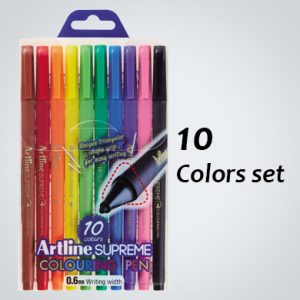 ARTLINE EPFS-210/10W SUPREME COLOUR PEN SET