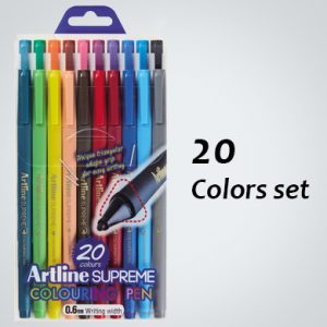 ARTLINE EPFS-210/20W SUPREME COLOUR PEN SET