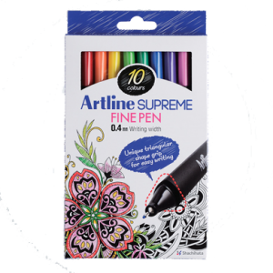 ARTLINE EPFS-200/10W SUPREME FINE PEN SET